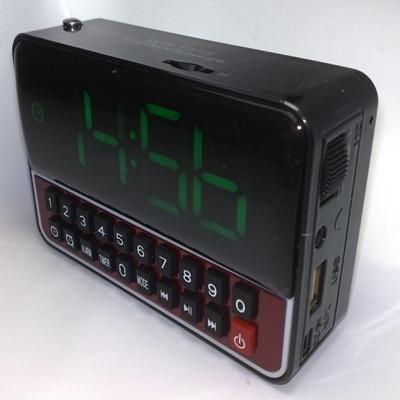 Радиоприемник  часы будильник  WS-1513 Time Clock Speakers