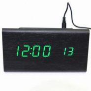 Светодиодные электронные часы VST- 861 + датчик температуры и дата. Дизайн в виде бруска дерева.